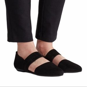 Eileen Fisher Black Suede Flats Size 7